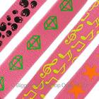NEW Various Designs PINK Neon UV Fashion Webbing BELT Goths Punks Skaters