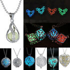 Luminous Steampunk Pretty Magic Fairy Locket Glow In The Dark Pendant Necklace