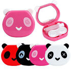 Unisex cute Cartoon Panda Candy Color Contact Lens Box Case For Eyes Care Kit
