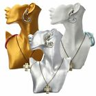 Resin Figurine Mannequin Necklace Earring Model Jewelry Display Stand Rack