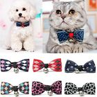 Dog Cat Puppy Kitty Bow Tie Necktie Collar Pet Accessory Bowknot Adjustable Bell