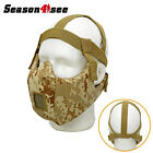 1X Tactical Steel Mesh V5 Half Face Conqueror Mask Airsoft Protective Paintball