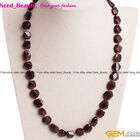 Beauty Garnet Bead Finished DIYJewelry Necklace/Collares Various shape Sizepick