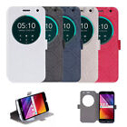 Thin Window PU Leather Stand Flip Case Cover For Asus Zenfone 2 Laser ZE550KL