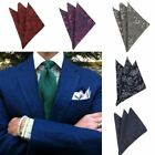 New Mens Pocket Square Paisley Hanky Hankie Floral Handkerchief Wedding Party