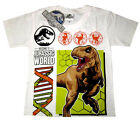 JURASSIC WORLD kids short sleeve white cotton t-shirt Size S-XL 3-9y Free Ship