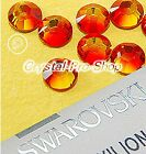 GENUINE Swarovski FireOpal (237) Iron On Glass Flat back Hot fix Rhinestone Gems