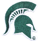 Michigan State Primary Spartan Head Logo Embroidery Iron On Patch Hat Football