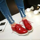 New Synthetic Patent Leather Shoes Vintage Lady Girls Casual Shoes Women Oxfords