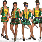 CL652 Teenage Mutant Ninja Turtles TMNT Womens Adult Fancy Dress Costume Outfit