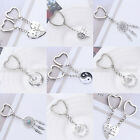 Silver Family Mom Daughter Sister BFF Heart Key Ring Chain Keyring Keychain Gift