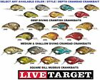 Koppers Live Target Crankbait Crawfish Deep Medium Shallow Square Bill Any Color