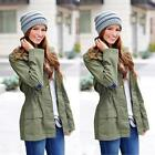 Women Long Sleeve Hooded Coat Jacket Trench Windbreaker Parka Outwear изнашивать