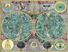 MA02 Vintage Celestial Map Planisphaerium Coeleste Astronomy Poster Print A3/A4