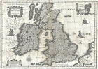MP3 Vintage Old 1631 Map Of The British Isles Britain Poster Re-Print  A1 A2 A3