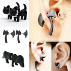 New 3D Stereoscopic Black Animal Impalement Men and Women Ear Stud Earring CATB