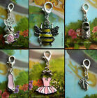 CLIP ON CHARM BEE SHOE BABY UNICORN BUNNY BALLET DRESS FAIRY ACRYLIC ENAMEL