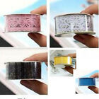 Wholesale Hot beauty color colorful lace fabric glue stick waterproof tape 0001