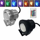 IP68 10W 12V RGB LED Light waterproof Pool Pond Underwater Lawn wtih Remote