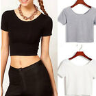 Charm Beautiful Elegant Cheap Cropped T-Shirt Short Sleeve Sexy Women Crop Tops