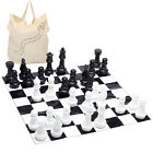 Garden Giant Chess set with included mat -garden game, indoors and outdoor use