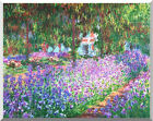 Stretched The Artist's Garden in at Giverny Claude Monet Fine Art Print Repro
