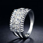 Womens Gift Silver Cubic Cz Fashion Cheap Rings For Wedding Size 7-9