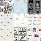 DOG THEMED WALLPAPER ANIMAL LOVE PUG, PUPPY + VARIOUS DESIGNS AVAILABLE FREE P+P