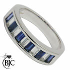 BJC® 18ct White gold Sapphire & Diamond Eternity size N engagement ring R56