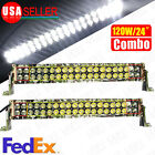 """2X 120W 22"""" Combo Camouflage LED Work Light Bar Driving DRL SUV 4WD Boat Truck"""