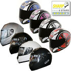BOX BX-1 Full Face Scooter Motorbike Helmet  Motorcycle Plain Scope SHARP 4 STAR