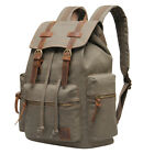 Hynes Eagle Canvas Leather Backpack Retro Offhand Rucksack Travel Satchel Bag NWT