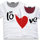 Lovers T Shirt For Couples Clothes Lovers Tshirt Men & Women Heart Love T-Shirts