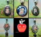 SNOW WHITE CHARM NECKLACE PENDANT LOCKET POISONED APPLE PRINCE WITCH