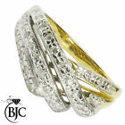 BJC® 18ct Yellow Gold Diamond 0.32ct size N Cluster Engagement ring R114