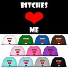 Bitches Love Me Valentines Day Dog Tee Shirt Pet Puppy Funny Clothes Apparel