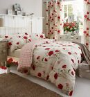 Wild Poppies Duvet Quilt Cover Set Bedding, Bed Linen By Catherine Lansfield