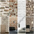 MURIVA BRICK EFFECT WALLPAPER VARIOUS COLOURS AVAILABLE FEATURE WALL FREE P+P