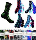 3 6 Pairs Mens New Leafs Marijuana Plant Cotton Long Weed Crew Socks 420 Lot