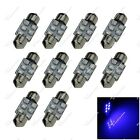 10X Festoon 30MM 31MM 32MM 6 SMD 1210 LED Interior Light RV Dome Lamps Car ZI007