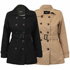 Ladies Women Coat Double Breasted Jacket By Brave Soul