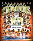 Denver Broncos Super Bowl 50 Champions Team Composite Photo SS042 (Select Size)