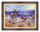 Loops and Swift Horses are Surer than Lead C M Russell Western Art Print Repro