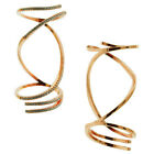 Rose Gold Plated High Fashion Elegant White CZ 925 Silver Micro Pave Knuckle Rin