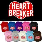 Heart Breaker Screen Print Valentines Day Dog Hoodie Pet Designer Funny Clothes