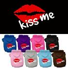 Kiss Me Screen Print Valentines Day Dog Hoodie Pet Puppy Designer Funny Clothes