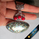 Wholesale Fashion Abalone Shell & Red Coral pendant Necklace 1/3/5/10 strands