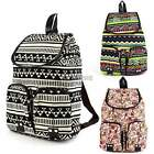 Women Lady Gril Vintage Chic Canvas Backpack School Bag Owl Colorful NWT