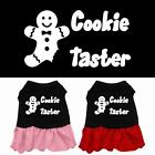 Cookie Taster Screen Print Dog Dress Holiday Designer Apparel Puppy Clothes