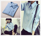 Fashion Women's Anchor Dacron Business Wear Long Sleeve Shirts Tops Blouse